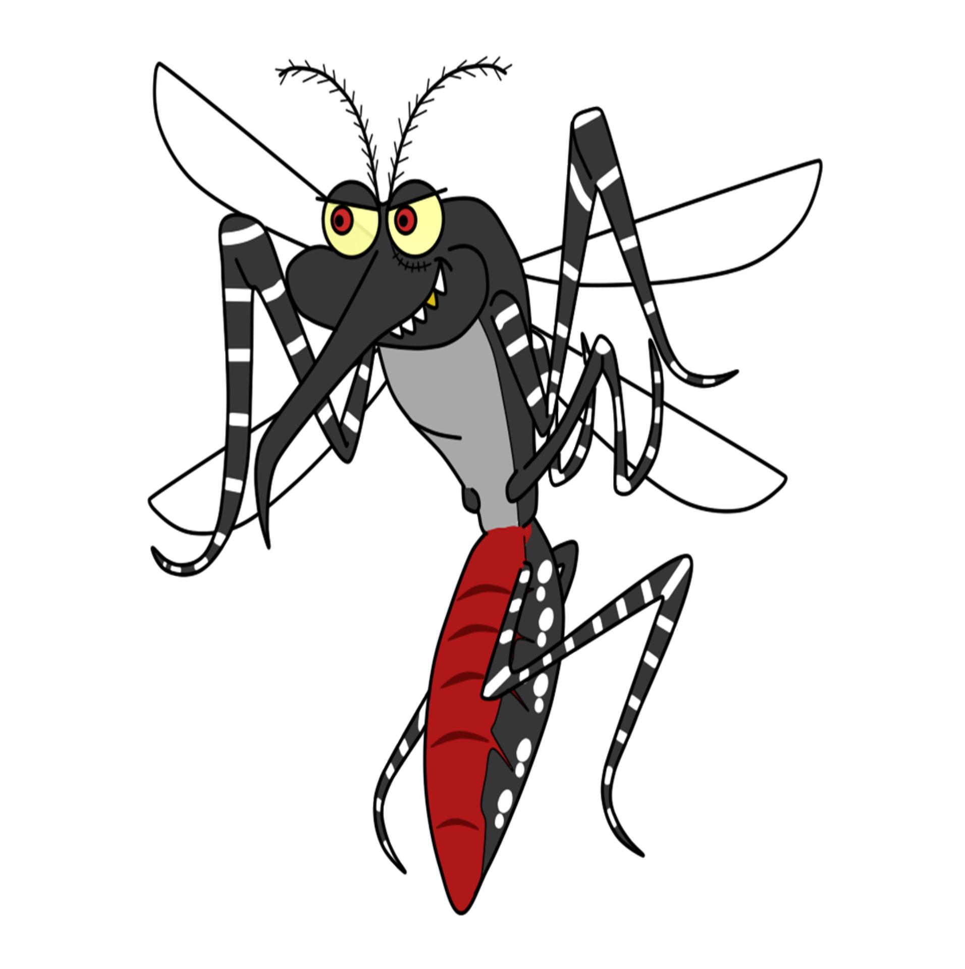 dibujar mosquitos